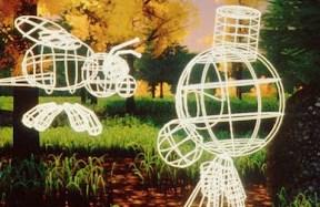 Визуален скелет от линии и многоъгълници на Andre и Wally B. Снимка от tor.com.